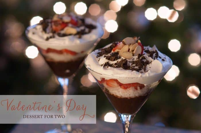 Easy 6-Ingredient Valentines Pudding Desserts for Two