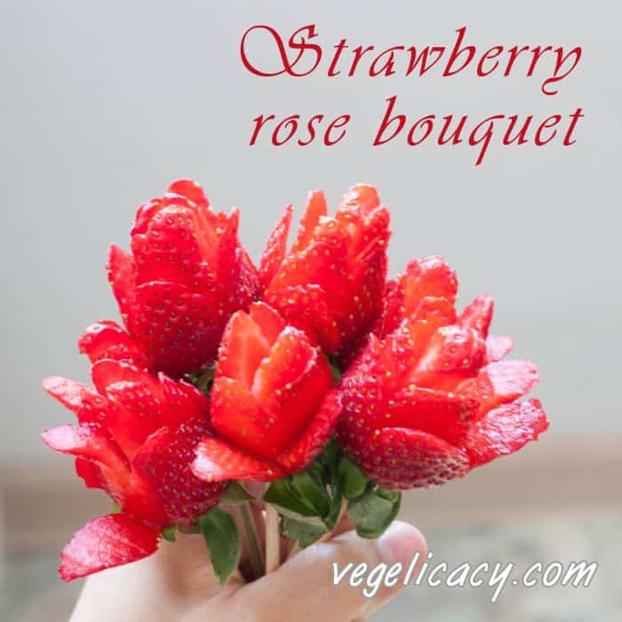 how to make chocolate covered strawberries into roses
