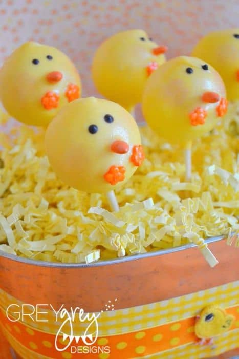 Spring Chicken Cake Pops