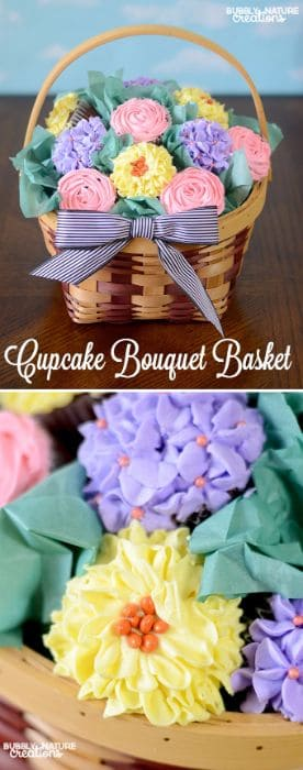 Cupcake Bouquet Basket