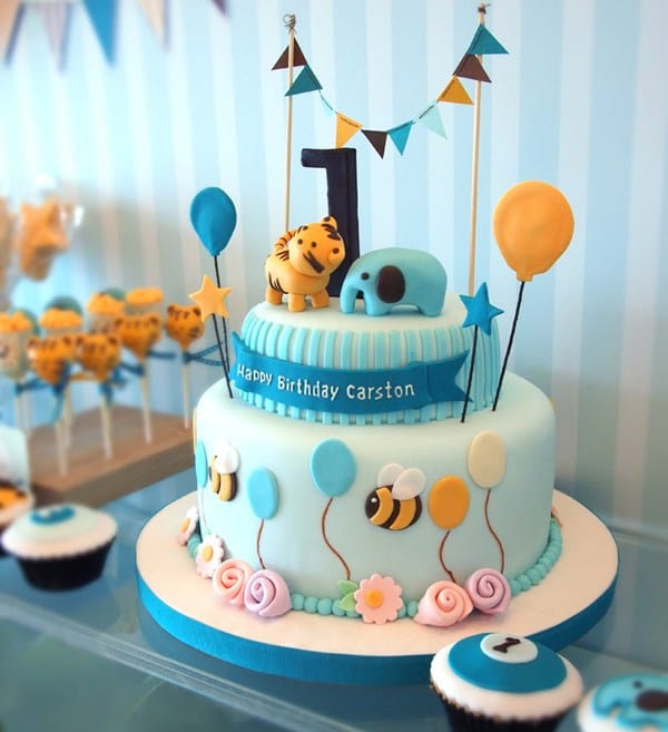Cake For 1 Year Old Boy Pinterest : The Ultimate List of 1st Birthday Cake Ideas - Baking Smarter